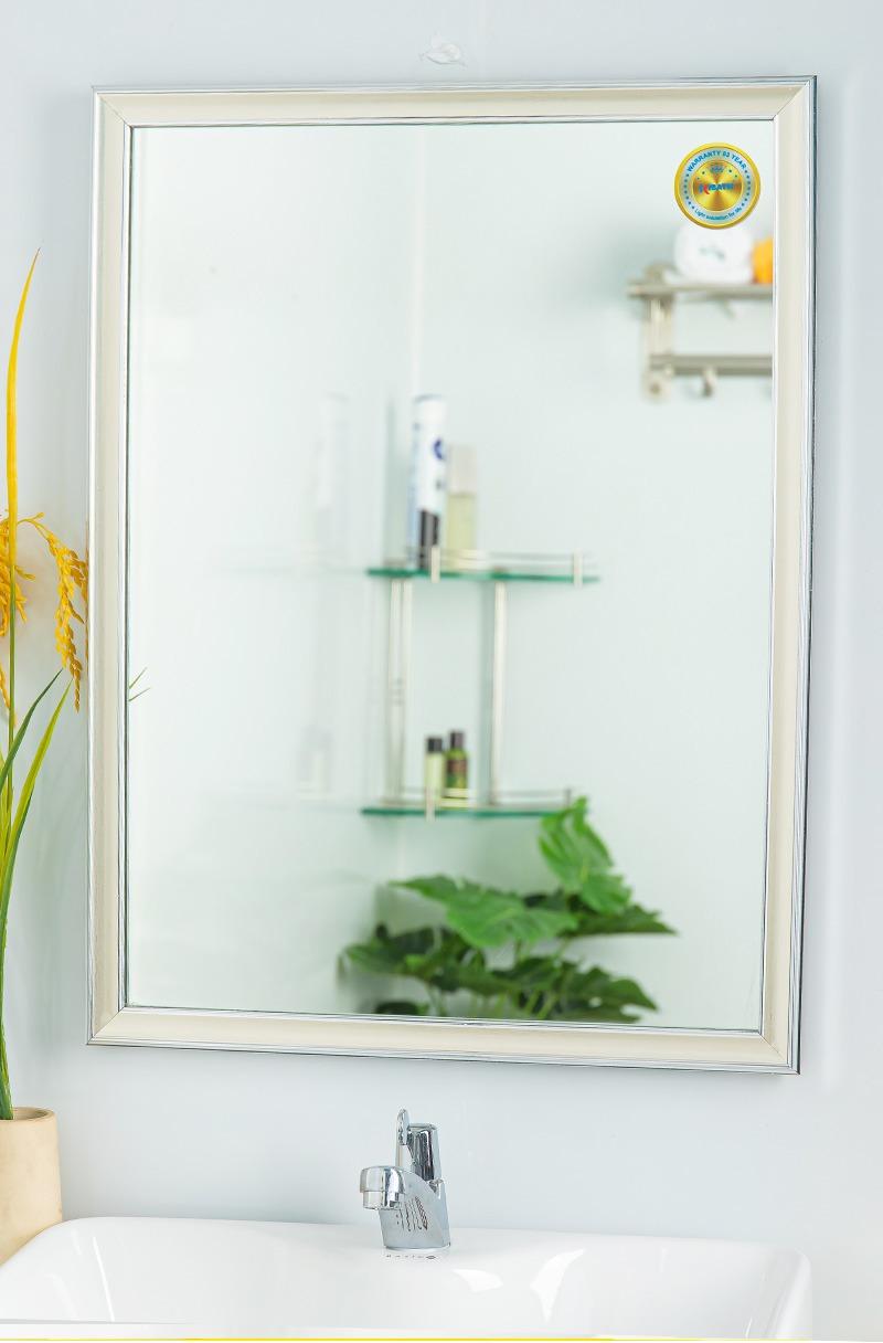 gương treo nhà tắm màu bạc