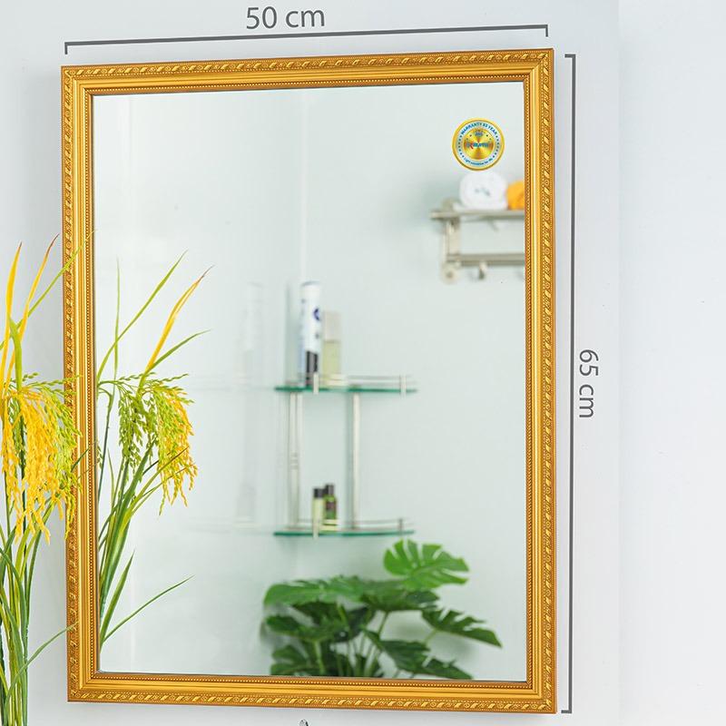 kích thước gương dát vàng