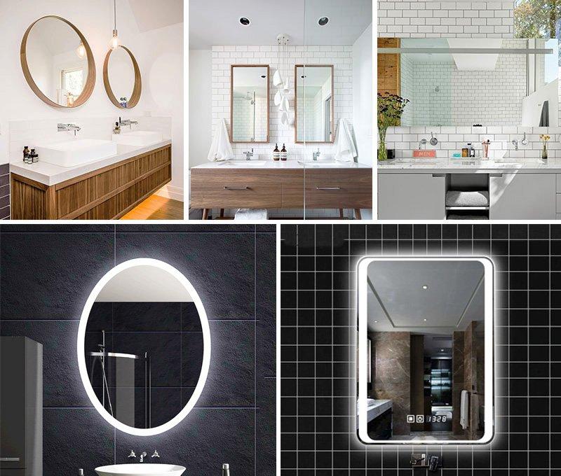 các loại gương trong nhà tắm