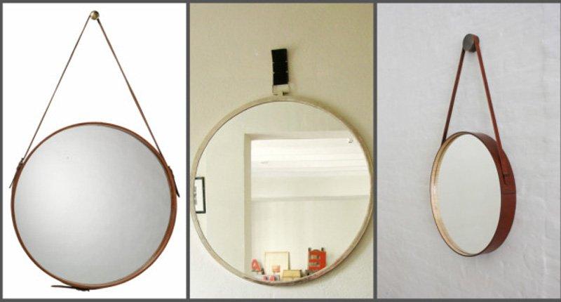gương dây da treo tường