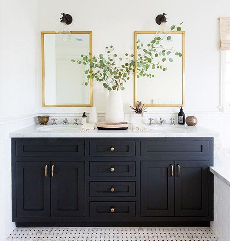 gương gỗ nhà vệ sinh