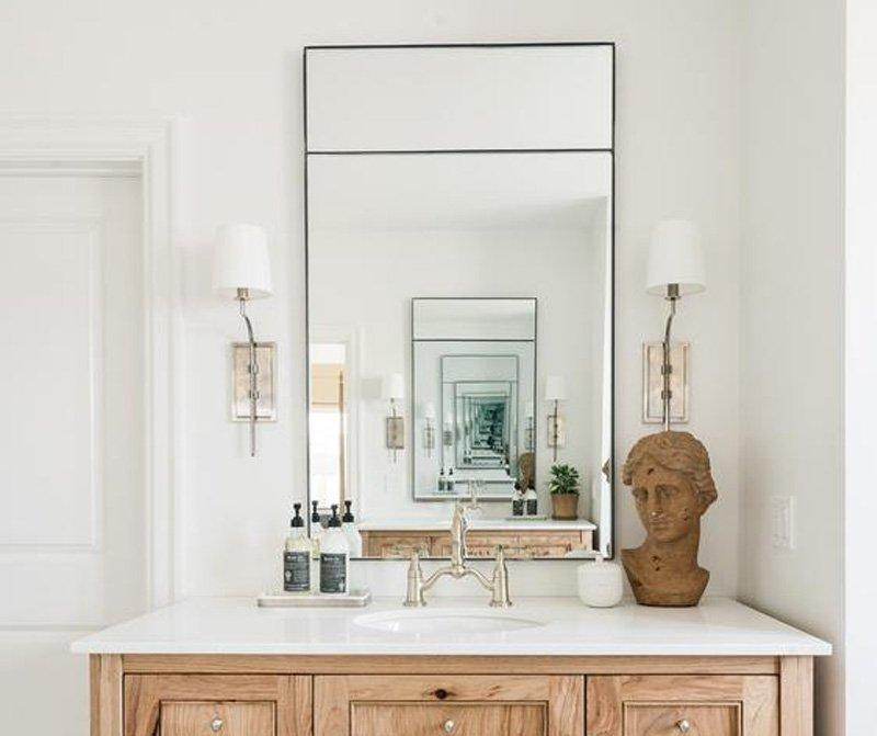 gương không khung treo tường nhà tắm