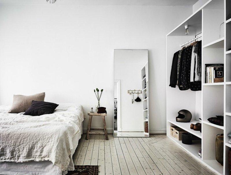 gương soi không khung treo phòng ngủ