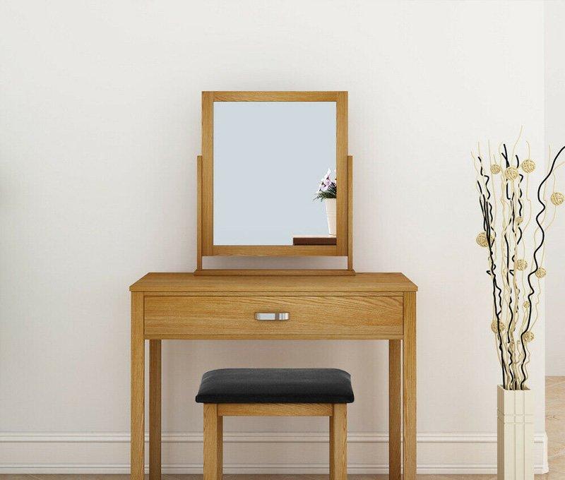 gương trang điểm khung gỗ
