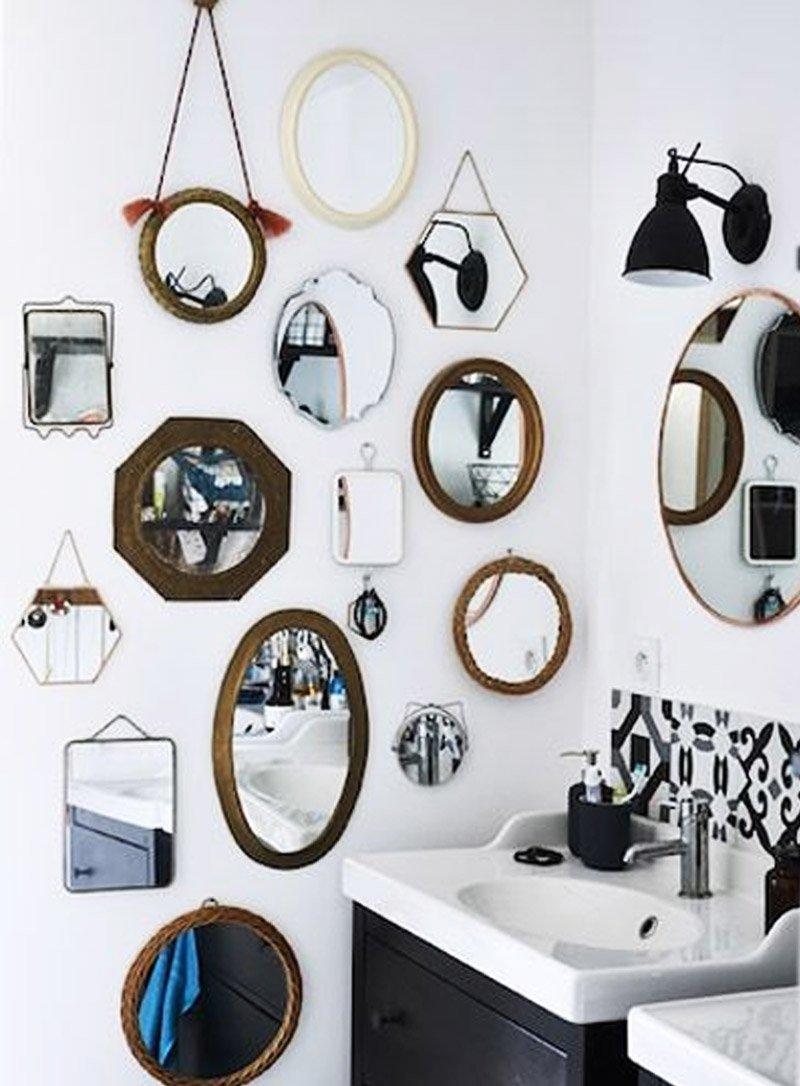 gương trang trí phòng tắm