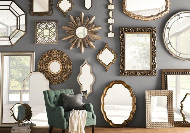 gương treo tường phòng tắm cổ điển