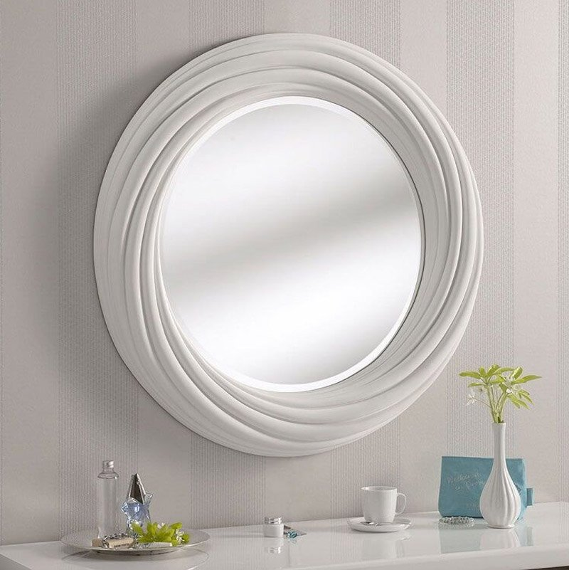 gương tròn khung nhựa