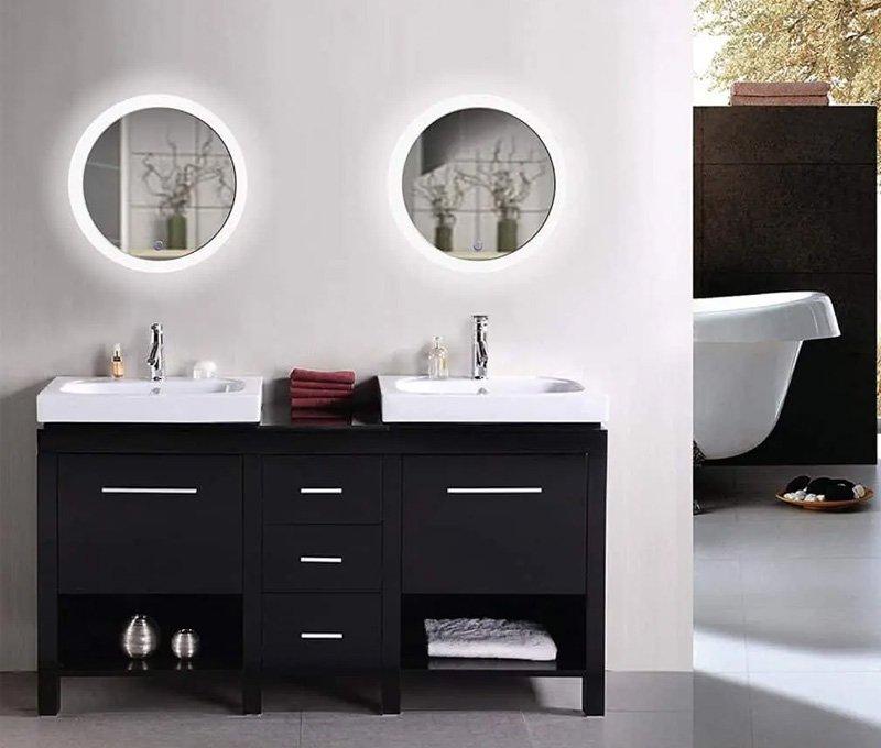 gương tròn toilet