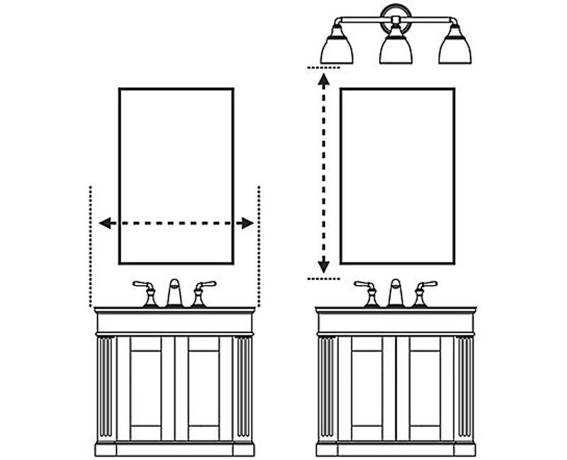 kích thước gương nhà vệ sinh