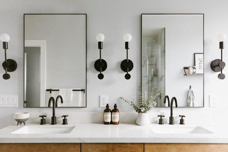 lắp đặt gương trong nhà
