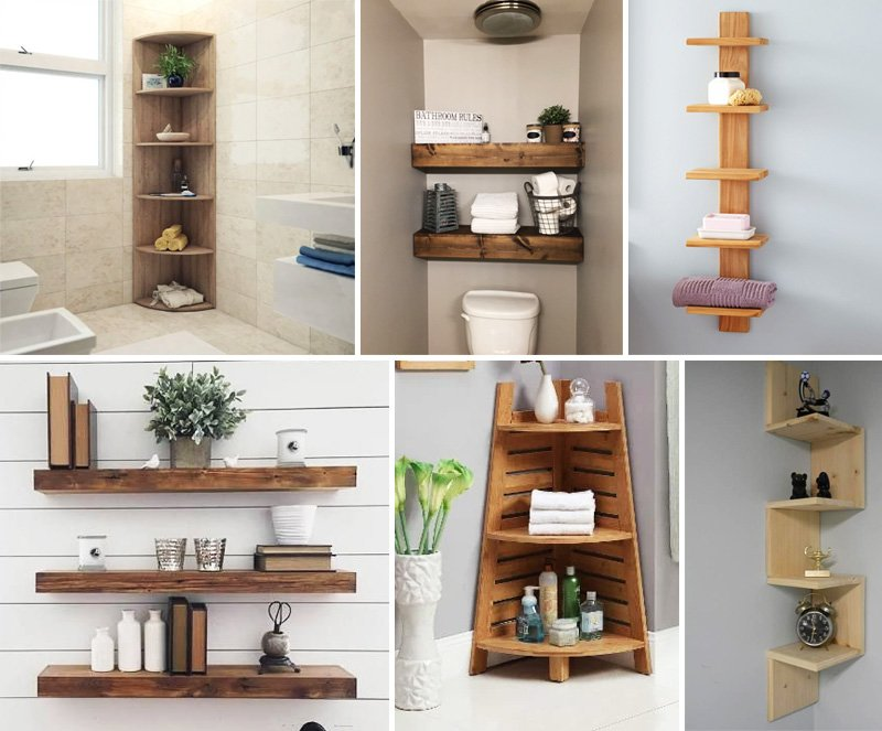kệ nhà tắm bằng gỗ