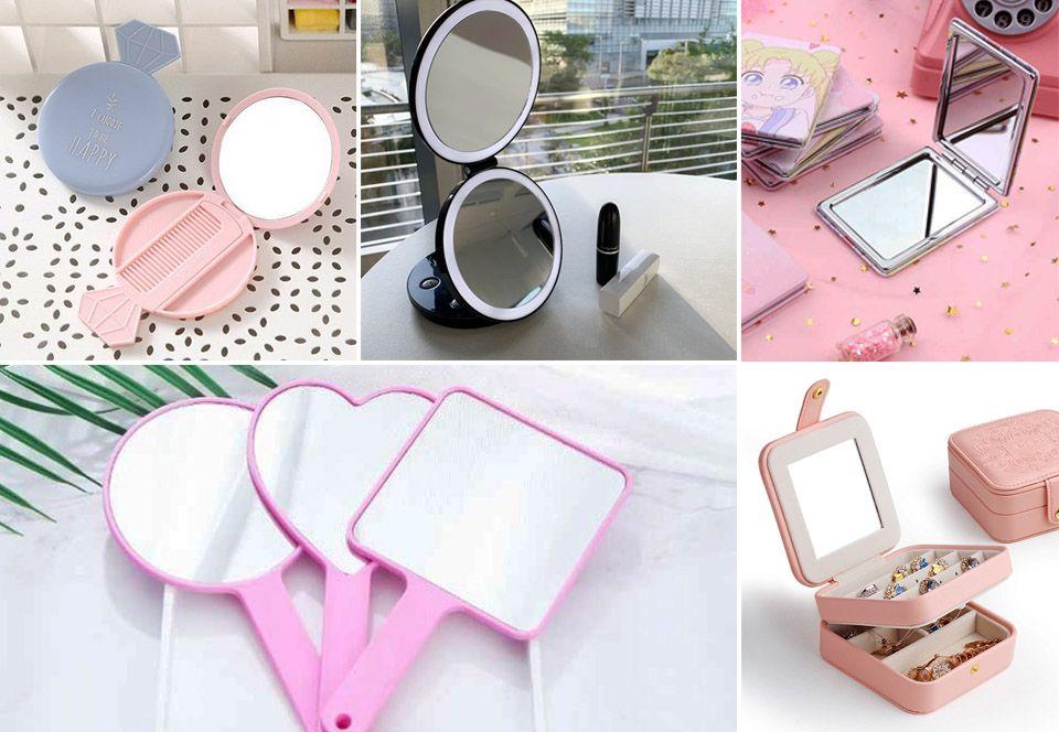 các loại gương trang điểm mini