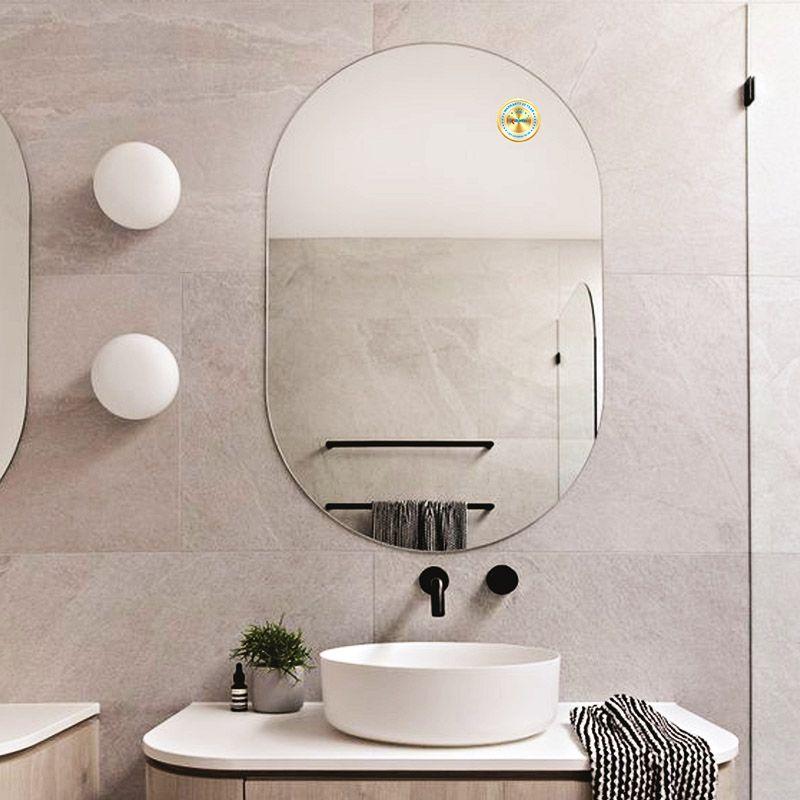 gương nhà tắm hình oval