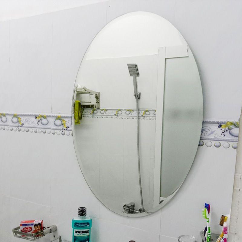 gương phòng tắm hình oval