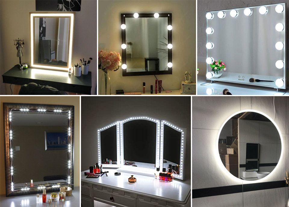 gương trang điểm có đèn