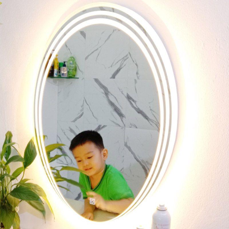 gương đèn led màu vàng